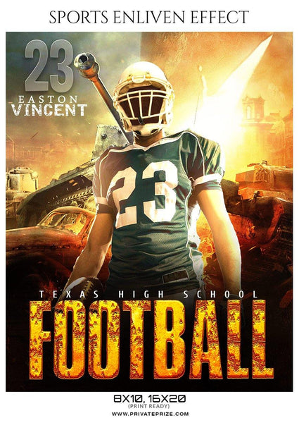 Easton Vincent - Football Sports Enliven Effects Photography Template