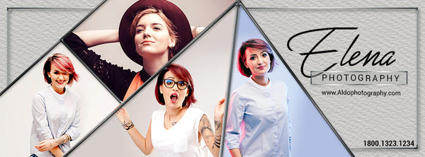 ELENA PHOTOGRAPHY - FACEBOOK TIMELINE COVER - Photography Photoshop Template