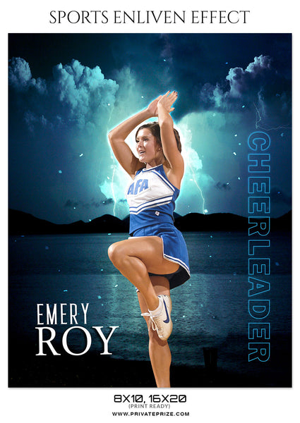EMERY ROY-CHEERLEADER- SPORTS ENLIVEN EFFECT - Photography Photoshop Template