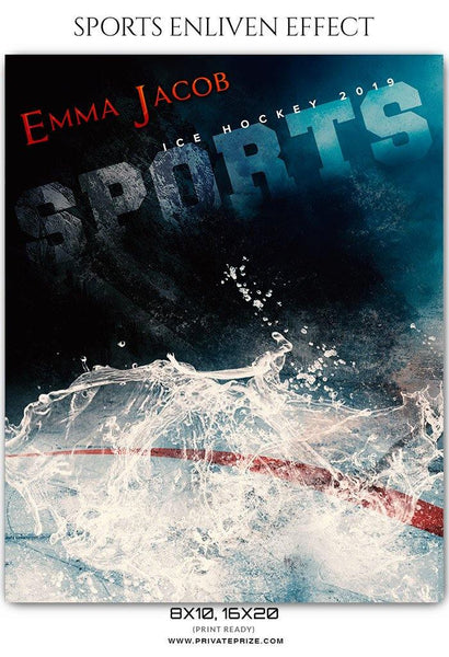 Emma jacob - Ice Hockey Sports Enliven Effects Photography Template