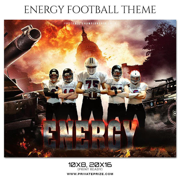 Energy - Football Themed Sports Photography Template - Photography Photoshop Template