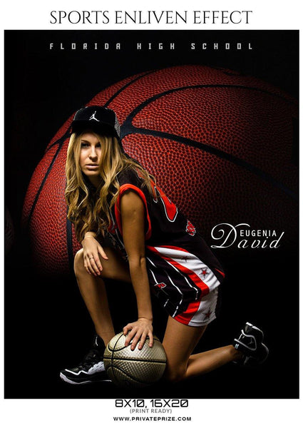 Eugenia David - Basketball Sports Enliven Effects Photography Template