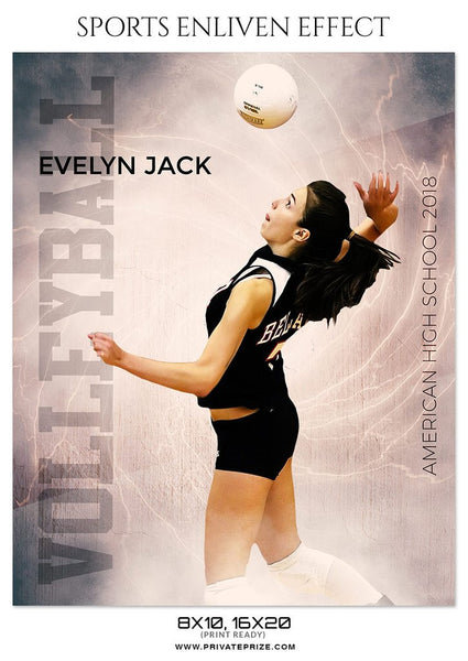 April Volleyball Bundle - Photography Photoshop Template