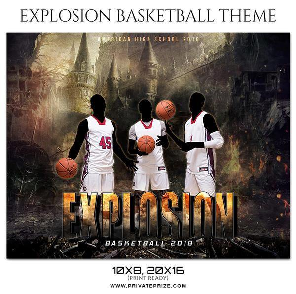 Explosion - Basketball Theme Sports Photography Template