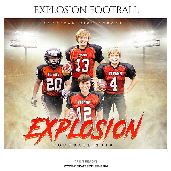 Explosion - Football Themed Sports Photography Template
