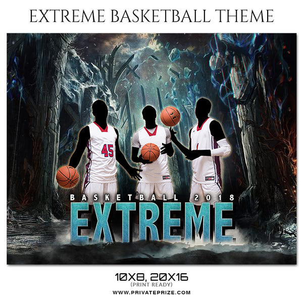 Extreme - Basketball Theme Sports Photography Template