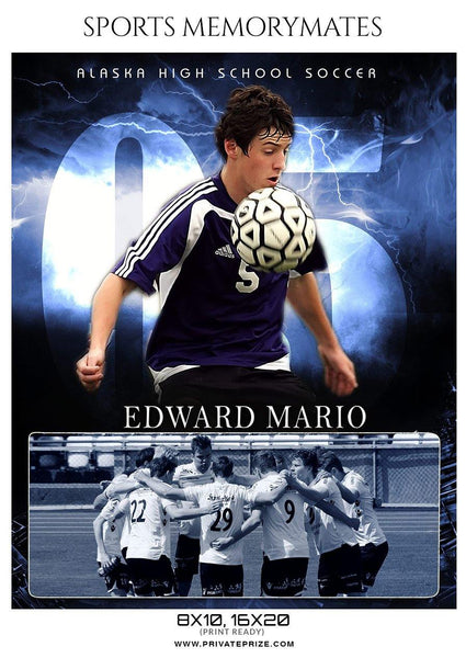 Edward Mario - Soccer Memory Mate Photoshop Template