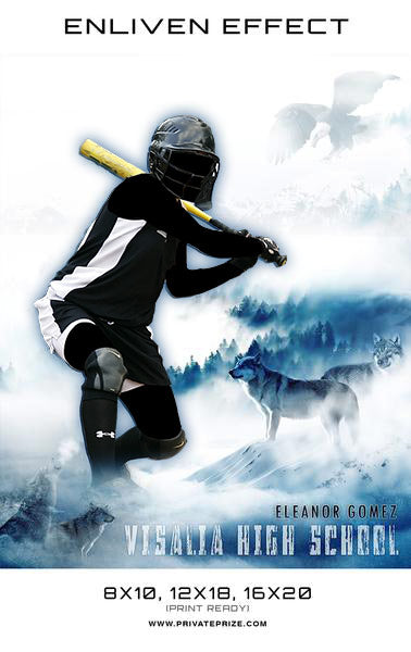 Eleanor Visalia High School Sports - Enliven Effects - Photography Photoshop Template