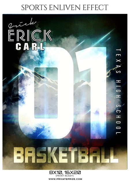 Erick CARL - Basketball Sports Enliven Effect Photography Template