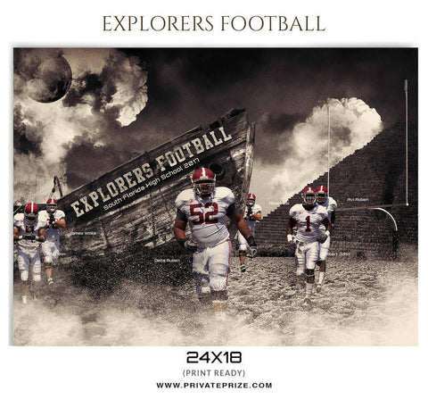 Explorers Sports Photoshop Template