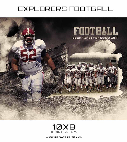 Explorers Sports Photoshop Template - Photography Photoshop Templates