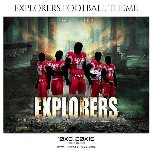 Explorers - Football Themed Sports Photography Template