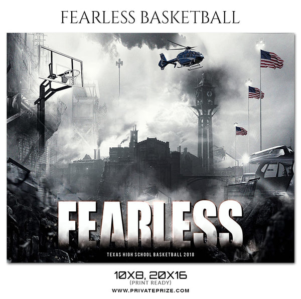 Fearless Basketball - Theme Sports Photography Template - Photography Photoshop Template