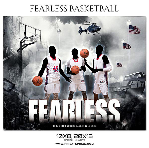 Fearless Basketball - Theme Sports Photography Template