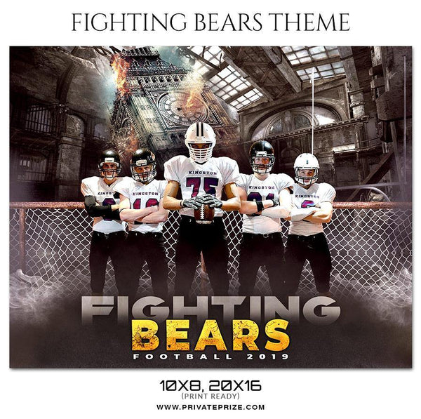 Fightning Bears - Football Themed Sports Photography Template