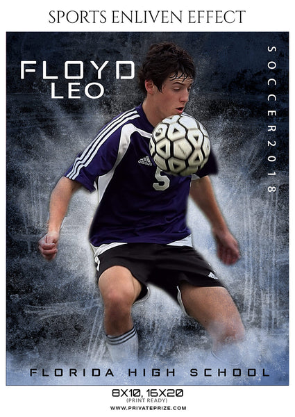 Floyd leo - Soccer Sports Enliven Effects Photography Template - Photography Photoshop Template