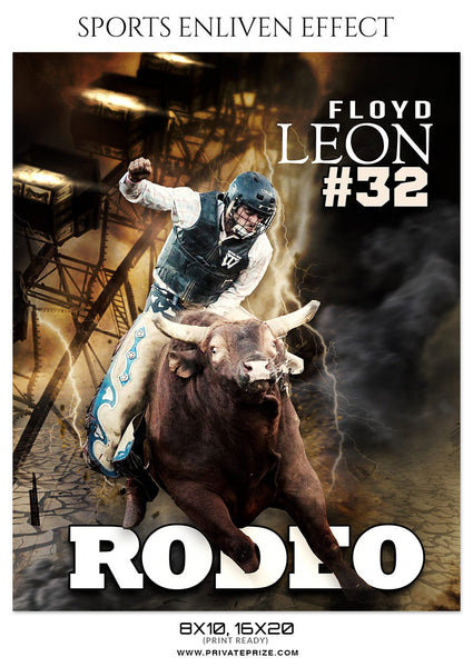 FLOYD-LEON- RODEO - SPORTS ENLIVEN EFFECT - Photography Photoshop Template