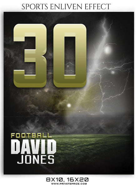 David Jones Football Sports Photography- Enliven Effects - Photography Photoshop Template