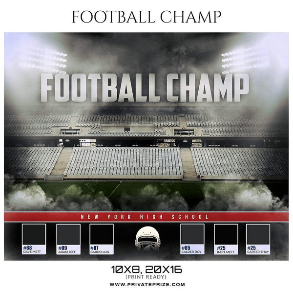 Football Champ Sports Enliven Effect Photography Template - Photography Photoshop Template