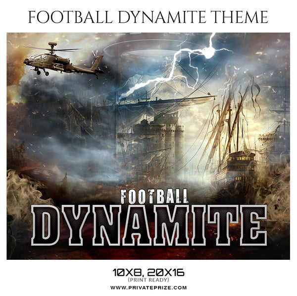 Football Dinamite Themed Sports Photography Template - Photography Photoshop Template