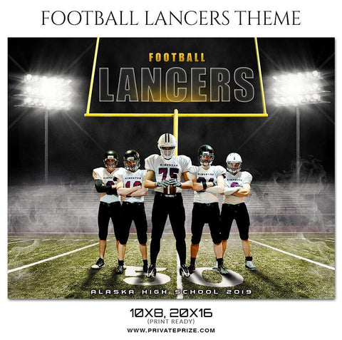Lancers - Football Themed Sports Photography Template