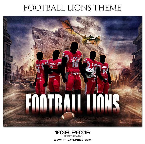 Football Lions Themed Sports Photography Template