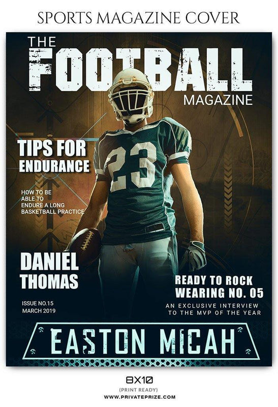 Football Sports Photography Magazine Cover templates - Photography Photoshop Template