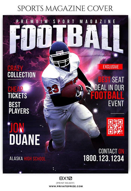 Football - Sports Photography Magazine Cover templates