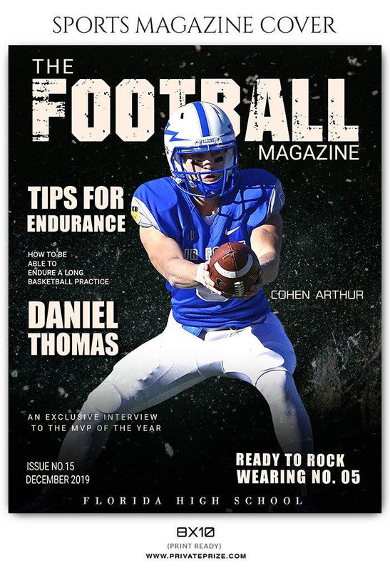Football Sports Photography Magazine Cover - Photography Photoshop Template