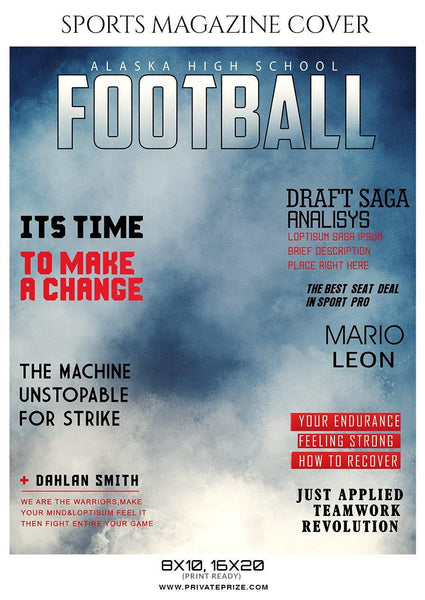Football Sports Magazine Cover Photography Templates - Photography Photoshop Template