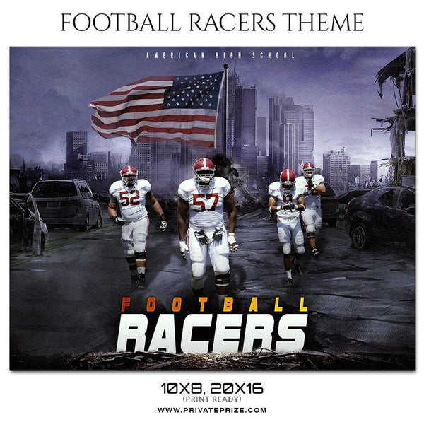 Football Racers - Themed Sports Photography Template - Photography Photoshop Template