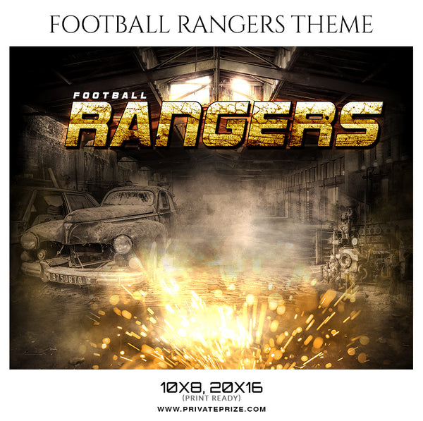 Football Rangers - Themed Sports Photography Template - Photography Photoshop Template