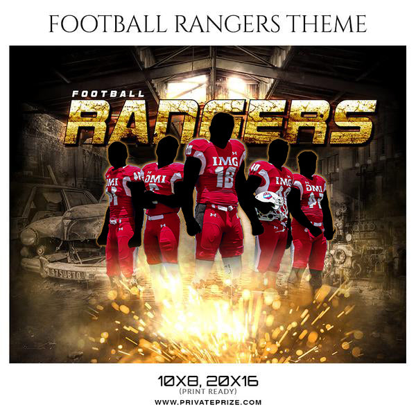 Football Rangers - Themed Sports Photography Template
