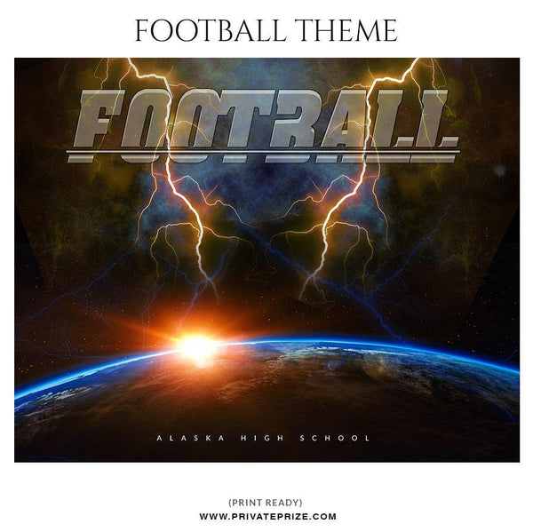 Football Themed Sports Photography Template