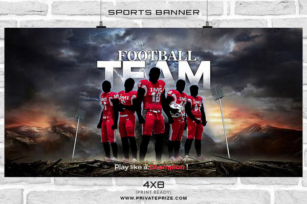 Football Team -Themed Sports Photography Template