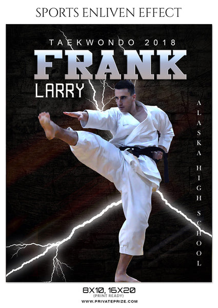 FRANK LARRY-TAEKWONDO- SPORTS ENLIVEN EFFECT - Photography Photoshop Template