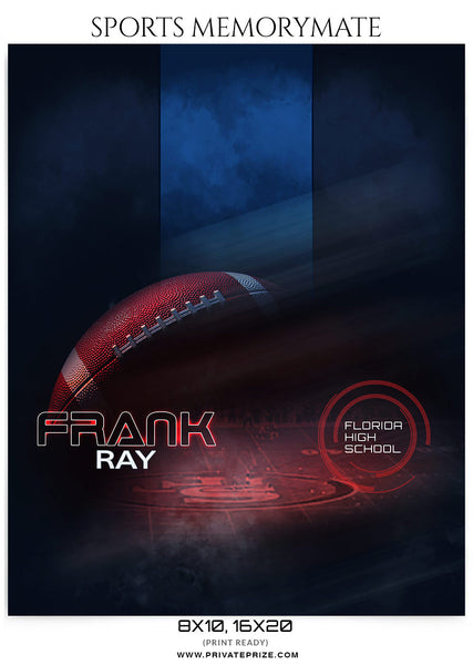 Frank Ray Football- Sports Memory Mate Photoshop Template - Photography Photoshop Template