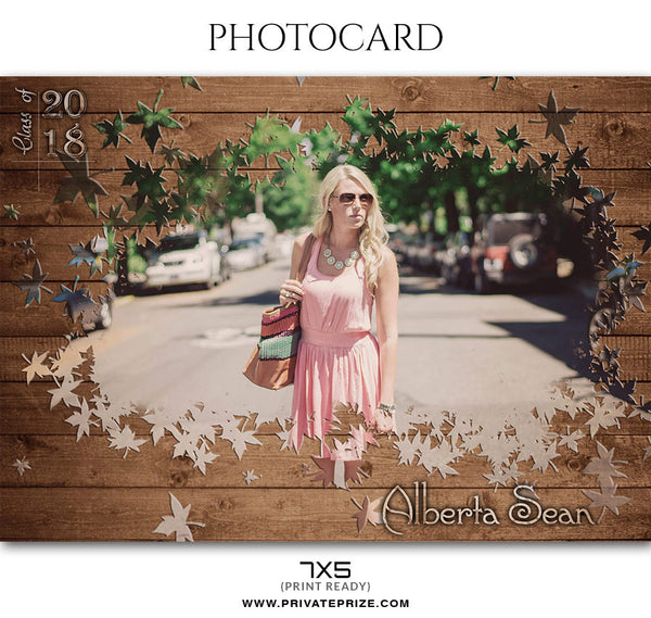 ALBERTA SEAN - PHOTO CARD - Photography Photoshop Template