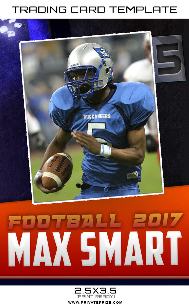 max sports trading card template