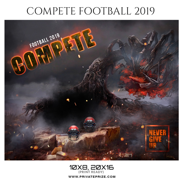 Compete Football 2019 - Themed Sports Photography Template