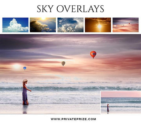 5 Sky Overlays - Designer Pearls - Photography Photoshop Template