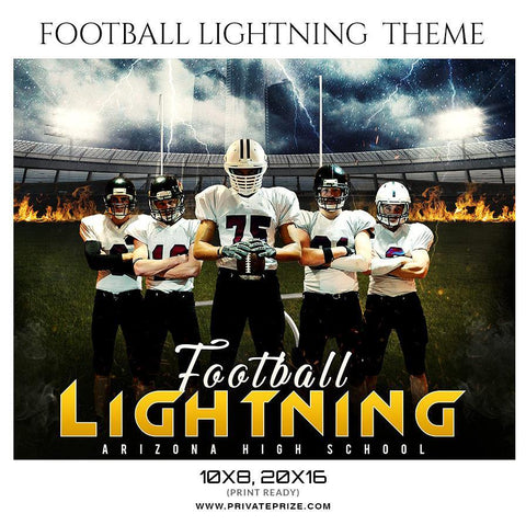 Football Lightning - Themed Sports Photography Template