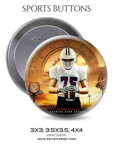 Football Sports Button