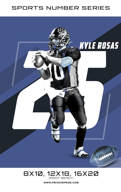 Football - Sports Number Series - Photography Photoshop Templates