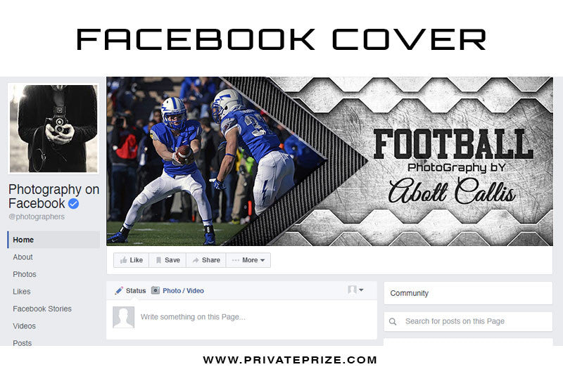 Facebook Timeline Cover Football Photography - Photography Photoshop Templates