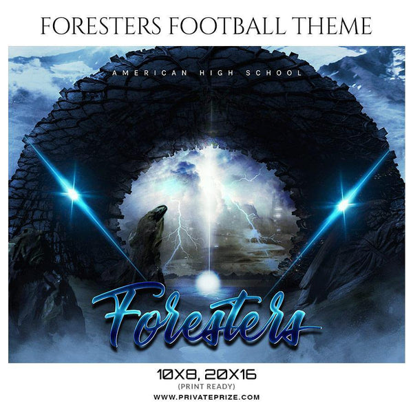 Foresters - Football  Themed Sports Photography Template