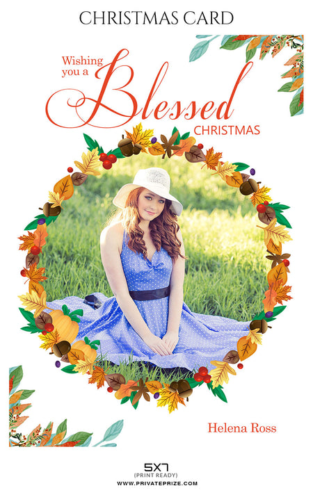 Helena Ross - Christmas Card - Photography Photoshop Template