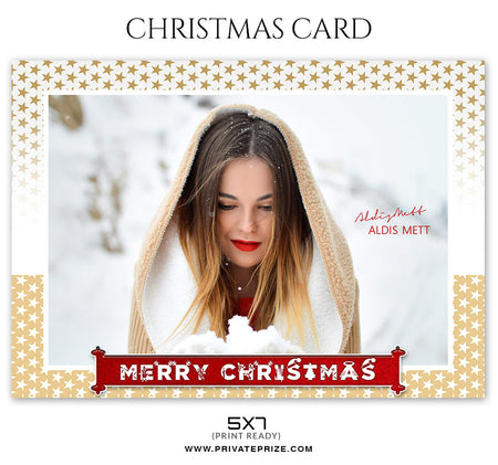 Aldis Mett - Christmas Card - Photography Photoshop Template