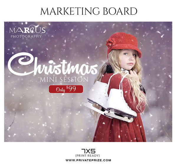 Christmas - Mini Session Flyer Template for Photographers - Photography Photoshop Template