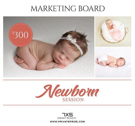 Newborn Session - Mini Session Flyer Template for Photographers - Photography Photoshop Template